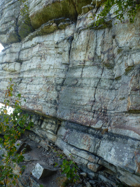 Rock Climbing Photo: Start the climb at the crack shown in the middle o...