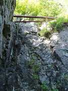 """Rock Climbing Photo: The START - note the """"L-Beams"""" across th..."""