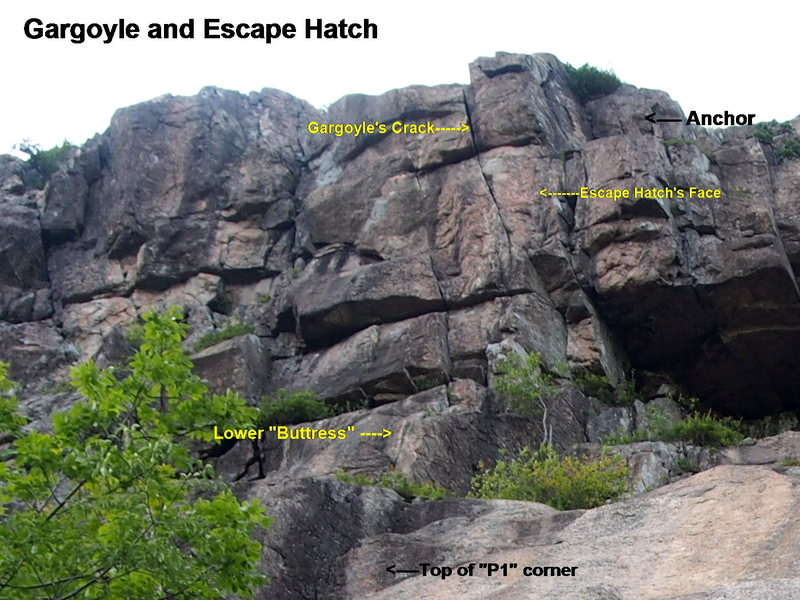 Rock Climbing Photo: Escape Hatch & Gargoyle