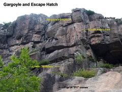 Rock Climbing Photo: Gargoyle and Escape Hatch
