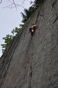 Rock Climbing Photo: Sending the upper crux