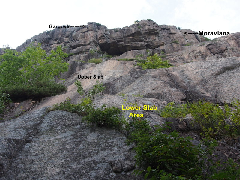 Rock Climbing Photo: Overview of Cliff from the base near Lower Slabs