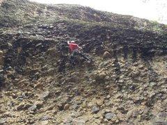 Rock Climbing Photo: Poop Chute (5.10d)