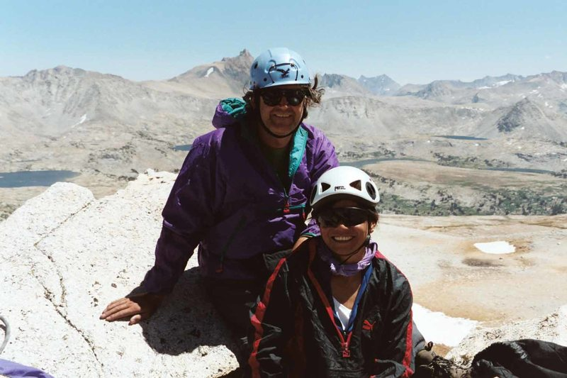 Melody Wong and Chris Owen on the summit.