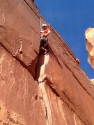 Rock Climbing Photo: throwing a kneebar through the pod