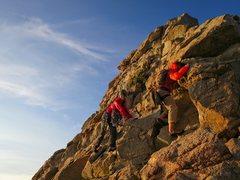 Rock Climbing Photo: Crystal Crag at Sunset