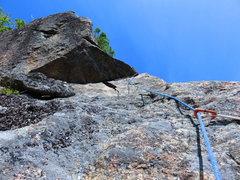 Rock Climbing Photo: Full Recovery P2 near the triangular roof