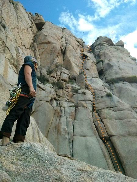 Rock Climbing Photo: Alan B looking back at Magnolia