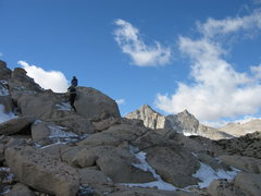 Rock Climbing Photo: Heading up towards the ramp.