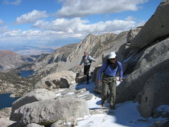 Rock Climbing Photo: The ramp section which bypasses the exposed slabs ...