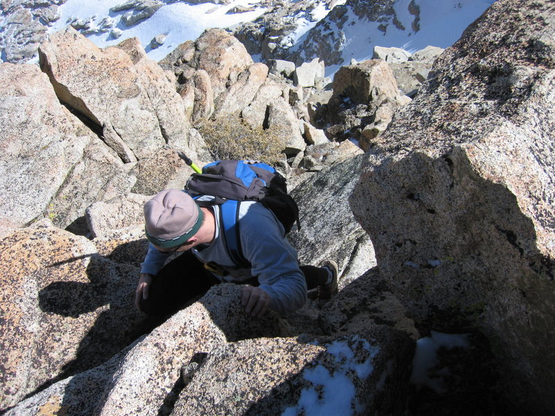 Rock Climbing Photo: Steeper section towards the summit, at the second ...