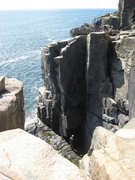 Rock Climbing Photo: Climbing out of the sea
