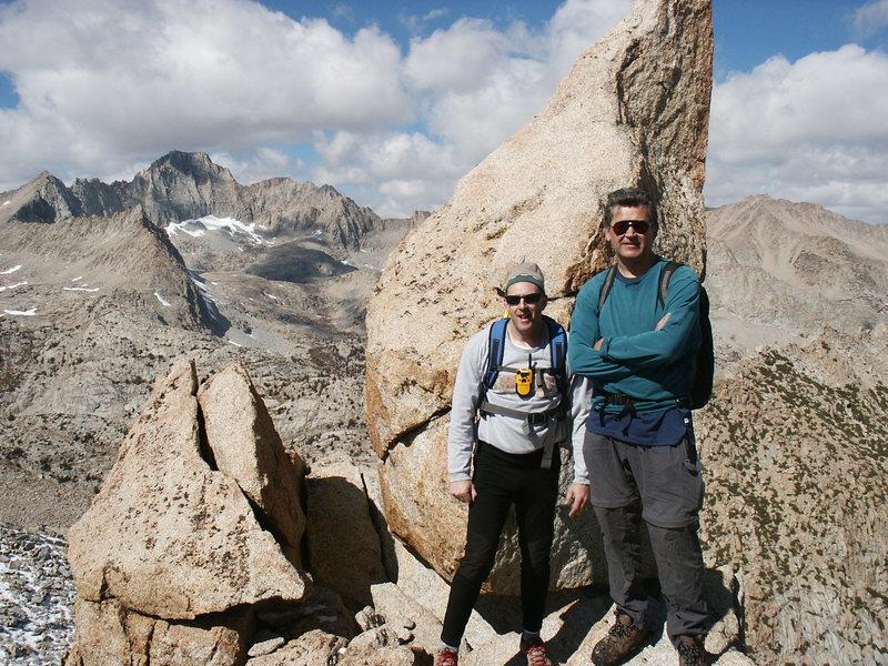 Stefan Harms and Chris Owen, with Mt. Darwin the big peak behind.