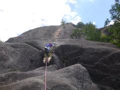 Rock Climbing Photo: Leading P2 5.8