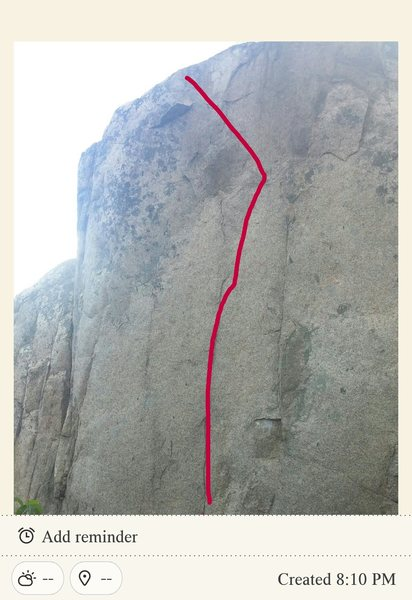 Looks extremely blank unless seem in person. In not strong enough to send. Id really like to see some stronger climbers try this problem. Will be a mega classic if it gets sent! Definitely a worthy FA