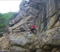 Rock Climbing Photo: same place on tope rope