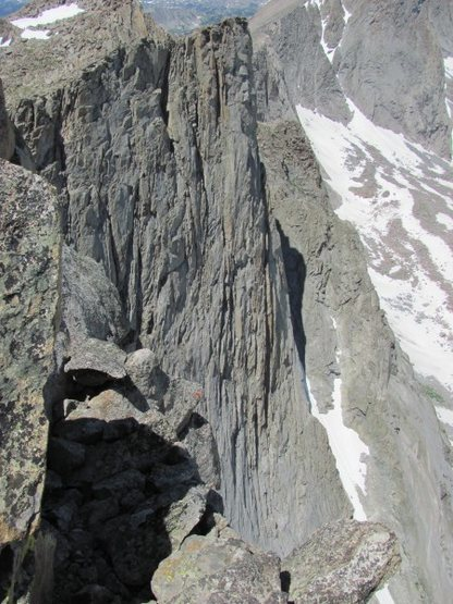 Rock Climbing Photo: This route had less loose rock than MG.