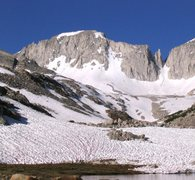 Rock Climbing Photo: East side of Mt Abbot from Mills Lake.