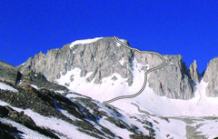 Rock Climbing Photo: North Couloir of Mount Abbot.