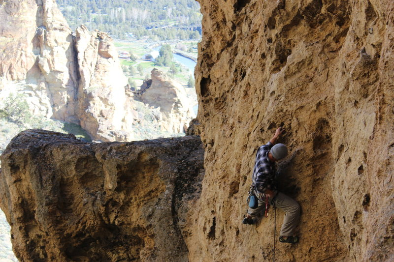 Rock Climbing Photo: At the beginning of Broken Glass