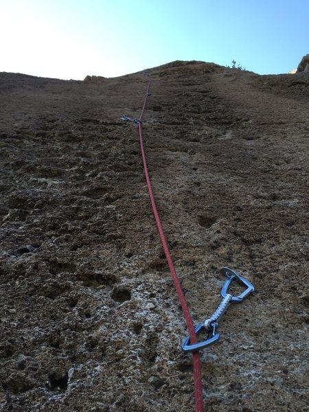 Rock Climbing Photo: leading up Rock Candy. Great fun climb!