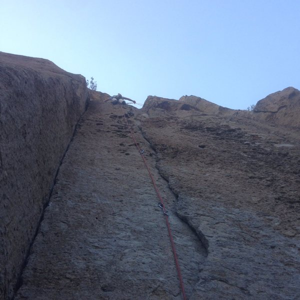 we sported this route even though it's a trad route, because there were bolts and because we're new to sport leading
