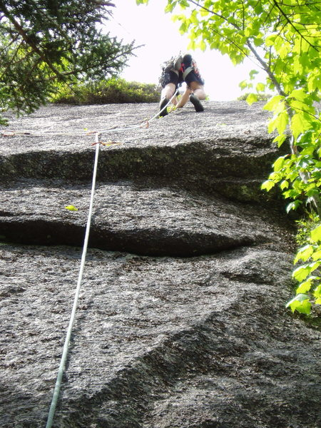 "Rock Climbing Photo: In the crack of ""The Green Mile"" (climb ..."