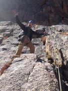 Rock Climbing Photo: At the top of the first rappel.