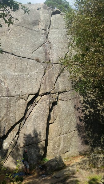 The route marked with a rope
