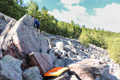 Rock Climbing Photo: Kenny warming up