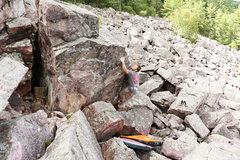 Rock Climbing Photo: Zach hitting the jug