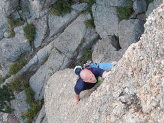 "Rock Climbing Photo: Ehren's first experience on Cerberus. ""This i..."