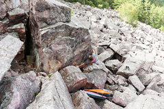 Rock Climbing Photo: Zach on the start