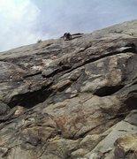 Rock Climbing Photo: Headed toward the anchor.