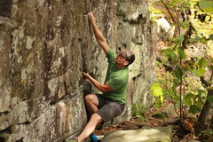 Rock Climbing Photo: first move from the sit start for me was this good...
