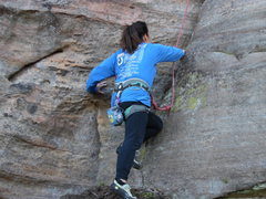 Rock Climbing Photo: Candy, started climbing at 58 years young, startin...