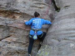 Rock Climbing Photo: Getting to the zig!