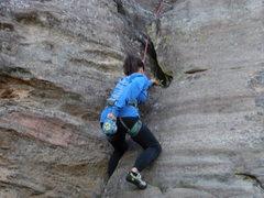 Rock Climbing Photo: Digging deep