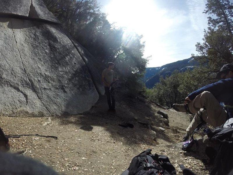 pre climb, soaking in the view!