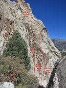 Rock Climbing Photo: Beta Photo showing Crimson Arete, Castles Made of ...