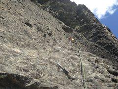 "Rock Climbing Photo: First bolt on pitch 2, 1/4"""