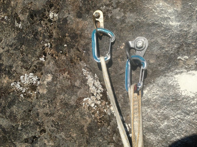 Rock Climbing Photo: P2 1st bolt on left has been replaced and removed.