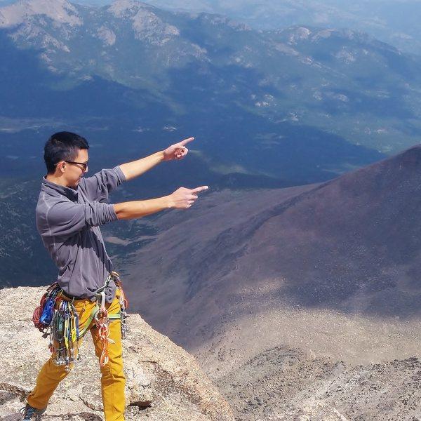 Rock Climbing Photo: Top of Longs Peak via the Casual Route