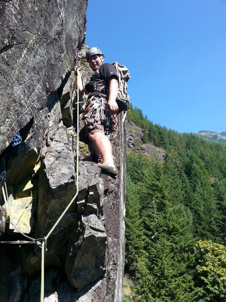 Rock Climbing Photo: Myself Leading P3
