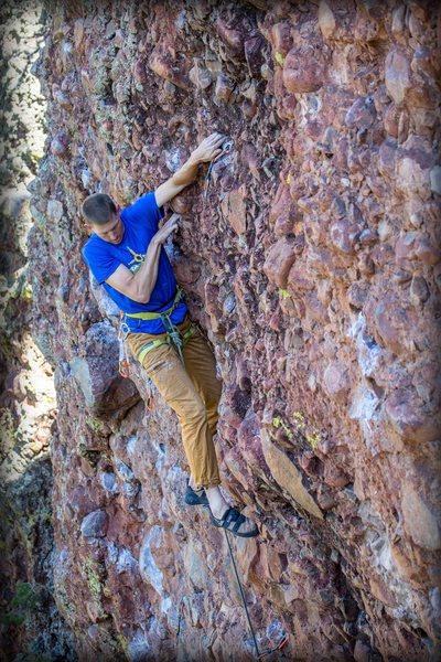 Rock Climbing Photo: Deep pockets on steep rock. September 2015. Aaron ...