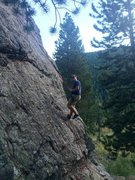 Rock Climbing Photo: Rappelling down Gus.