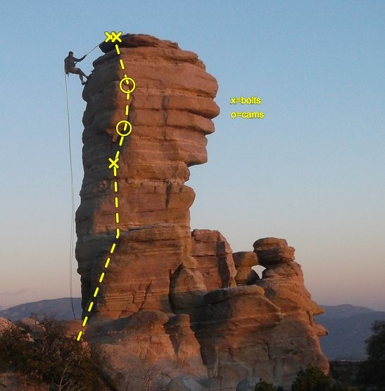 Rock Climbing Photo: topo of North West route