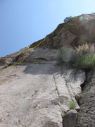 Rock Climbing Photo: Middle of Pitch 2 as seen from Bucky Blue.