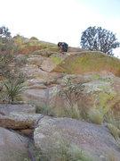 Rock Climbing Photo: Pat on start of Pitch 3.