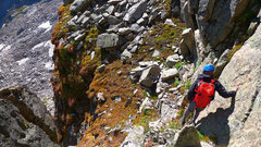 Rock Climbing Photo: Running the ridge between McHenry's & Chiefs Head.